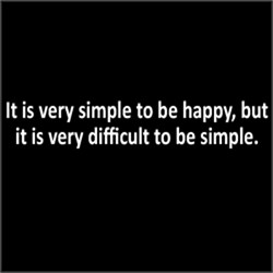 Simple To Be Happy