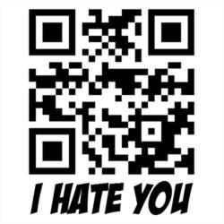 I Hate You QR Code