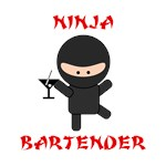 Ninja Bartender with Martini