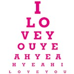 I Love You - Eye Chart