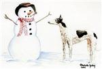 Greyhound and Snowman