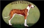 Brindle Greyhound Oval