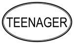 Oval: <strong>Teenager</strong>
