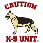 K-9 Unit with Caution Stay Back or Get Bitten on
