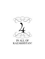 FOUR IN ALL OF KAZAKHSTAN