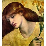 Sanctas Lilias - Rossetti - golden goddess woman