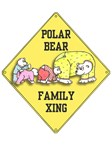 POLAR BEAR FAMILY CROSSING