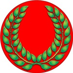 Red with Green Laurel