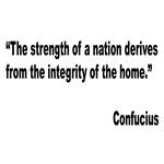 Confucius Home Integrity Quote