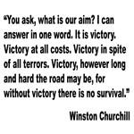 Churchill Victory Quote