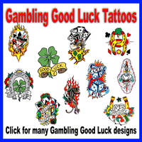 Gambling Good Luck Tattoos