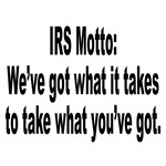 IRS Tax Motto Humor