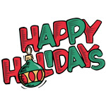 Retro Happy Holidays