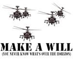Military T-Shirt Apache AH-64d design