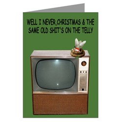 Rude Christmas Cards rude funny TV's shit theme