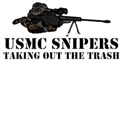 Cool military tees-cool USMC sniper theme