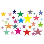 Pretty & Colorful Stars T-shirts & Gifts