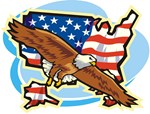 American Eagle over US