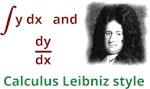 Calculus Leibniz style