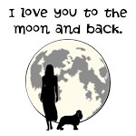 I Love You (Cavalier Dog) To The Moon and Back