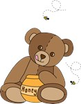 Teddy Bear and Honey