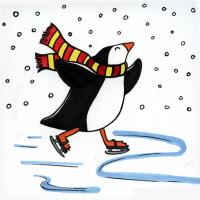 Skating Penguin
