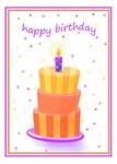 Stacked Cake Birthday