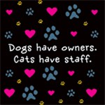 Dogs Have Owners, Cats Have Staff Design