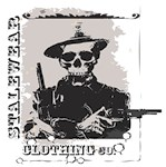 Old West Skull and revolvers logo