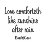 Love Comforteth