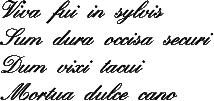 Viva Fui in Sylvis  [16th c. Musical Riddle/Motto]