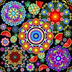 Mandalas and Exotic Fruits Pattern
