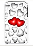 3D Love Red and White Hearts