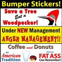 Humorous, Custom Bumper Stickers