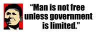 Reagan Quote - Man is not free