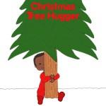 Christmas Tree Hugger Kid