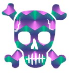 Psychedelic skull t-shirts & gifts