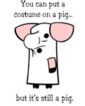 Costume on a Pig