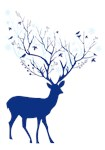 Deer with tree antlers