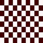 Dark Brown Checkerboard