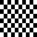 Classic Black Checkered Flag