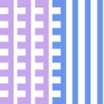 Lavender and Blue Combs Tooth