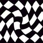 Black and White Checkerboard Twist