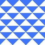 Bright Blue Triangles