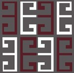 Charcoal and Maroon Tile