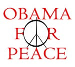Obama for peace. The peace version of Obama for ch