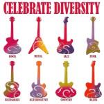 Celebrate Diversity - Guitars