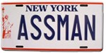 Seinfeld - Assman License Plate