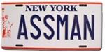 Seinfeld - Assman License Plate