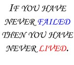 If You Have Never Failed